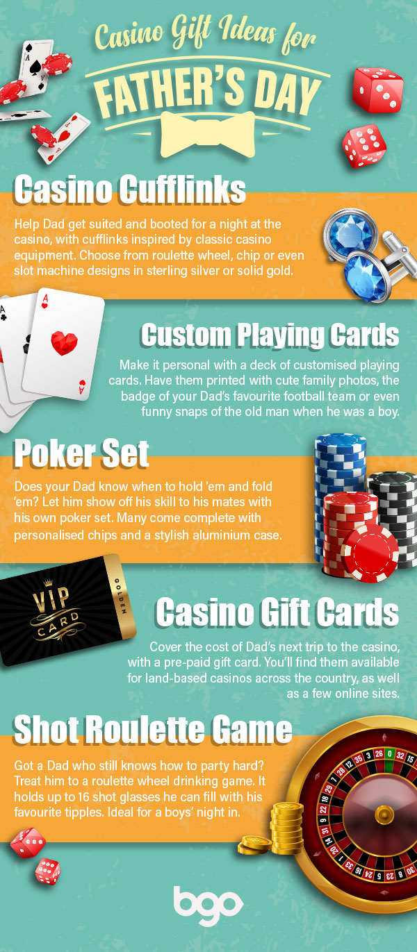 Casino-inspired gift ideas for Father's Day